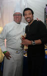 "Chef Christian ""Kit"" Kiefer backstage with Lionel Richie"