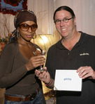 "Chef Christian ""Kit"" Kiefer backstage with Mary J. Blige"