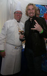 "Chef Christian ""Kit"" Kiefer backstage with Nickelback's Chad Kroeger"
