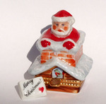 Sinclair Limoges Santa out of Fireplace