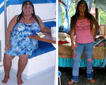 Sierra Before and After her 170 Pound Weight Loss using Green Tea