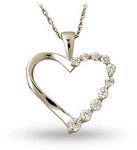 Diamond Journey Heart Pendant