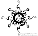 TattooFinder.com Tribal Sun, Moon, Stars Tattoo Design by Artist Melanie Paquin, Quebec, Canada