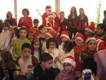 Mrs. Andree Lahoud,First Lady of Lebanon, Joins Santa and Time4sharing.org Choir for Palace Cheer