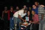 Tiara King with Cast and other Katrina Survivors