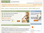 Click For Lessons - Find a trusted local teacher.