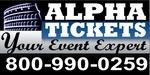 Alpha Tickets Logo 800-990-0259