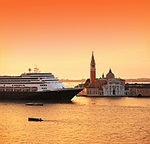 MS Rotterdam in Venice, courtesy of Holland America Cruises.