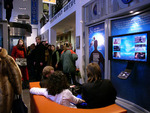 Visitors tour the new Church of Scientology of Berlin on the day of its grand opening.