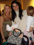 Angie Harmon with daughter and Suzanne Longacre of Suzibella