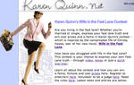 Karen Quinn Wife in the Fast Lane Contest home page