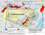 CanAlaska Uranium Projects Map in Athabasca Basin
