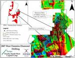 PFN 2007 West Timmins Diamond Drilling Map