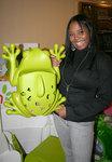 Shar Jackson with a Boon Frog Pod