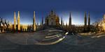 Flat panorama showing Milan's Duomo