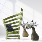 Calla Chair with Freeform Vases Lifestyle