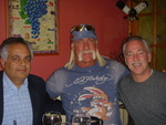 (L-R) Keith Mirchandani (TriStar Products), Hulk Hogan and Bob Cohen (Astral Brands) team up to promote new grill