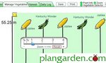 Zoom and pan feature added to vegetable garden planning software.
