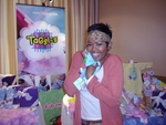 """Malinda Williams, of """"Windfall,"""" finds a cozy windfall with a Taggies blanket."""