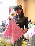 Tai Carrere loves this hearts-patterned Big Taggies blanket for daughter Bianca.