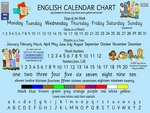 Interactive Calendar Chart for early language learning