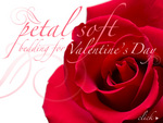 One of Linenplace.com's Valentine's Day Homepage Promotions