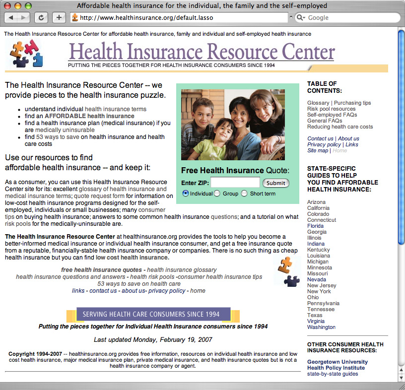 Top Site For Affordable Health Insurance Offers State
