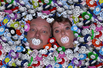 Kim & Carol Pedersen buried in MyPacifier Personalized Pacifiers