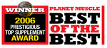 """Best in Class"" Award for MX-LS7, by Planet Muscle Magazine"