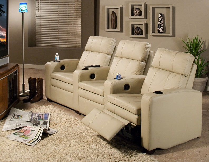Pillowtop Home Theater ChairsDesign a media room with this luxury home theater seating arrangement using Room Builder on ... & Furniture Blue Presents New Online Room Builder For Home Theaters ...