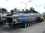 41' Razor at the Miami Boat Show.