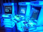 """World's first transluscent game system with an internal light show. Can you say """"cool blue?"""""""