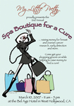 Spa Boutique for a Cure Post Card Front