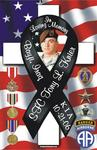 Personalized photo magnet of fallen soldier with medals