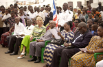 Many community leaders including Liberian Vice President Joseph Boakai attended welcome ceremonies for the Mercy Ship.