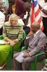 Liberian Vice President Joseph Boakai with Solfrid Quist, Executive Director of the Mercy Ship
