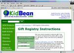 KidBean.com's new eWish gift registry