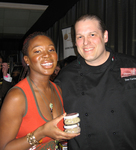 India Arie and Chef Don Curtiss of Volterra Restaurant