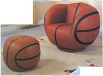 Fourth Place Kids Basketball Chair and Ottoman