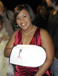 Chandra Wilson Wearing Therabath Mitts
