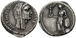 "A lifetime portrait denarius of Julius Caesar as ""Perpetual Dictator"" struck in 44 BC, one month before his death. (Classical Numismatic Group photo)"