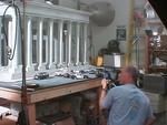 Pat Sweeny shooting a miniature set for MORAV