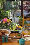Locally grown and organic fare is abundant at breakfast time at Strawberry Creek B&B.