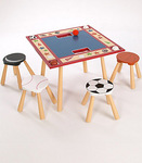 All Star Sports Table & 4 Stool Set from Level Of Discovery