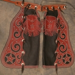 Fine Pair of Spotted Show Chaps