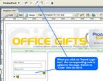 Inserting a search box, login form, etc.