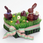 Gourmet Easter chocolate bunnies and eggs