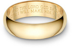 Bible Verse Wedding Ring