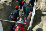 From Trench Rescue: Rescuers remove victim from trench