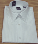 Hugo Boss White Satin Stripe Sportshirt